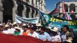 Alcaldes encabezaron protesta contra recorte del canon minero - Noticias de omar candia