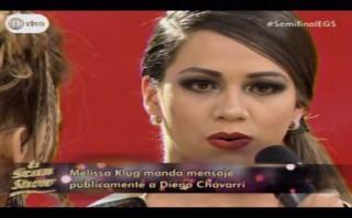 El gran show: Melissa pone punto final a tema Diego Chávarri