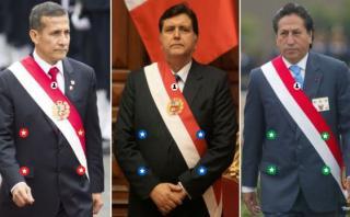 Las cifras de Humala, García y Toledo al final de sus gobiernos