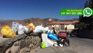 Cusco: bolsas con basura son acumuladas en zona turística