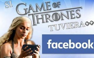 """Así sería """"Game of Thrones"""" si personajes usaran Facebook"""