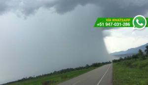 La impresionante vista de la lluvia que cayó en Tarapoto