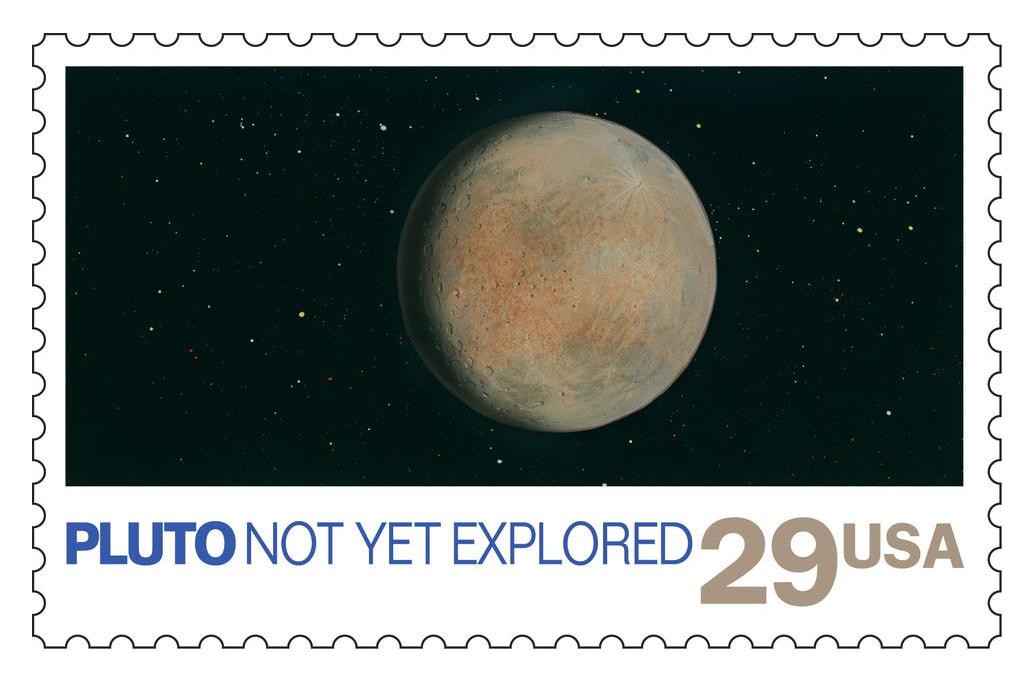 La NASA dice que el Servicio Postal de los Estados Unidos canceló oficialmente la estampilla después de que New Horizons pasó por Plutón en julio pasado.