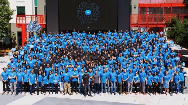 Mark Zuckerberg celebró hito de Messenger con todo su equipo