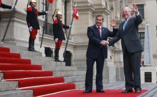Ollanta Humala se reunió con PPK en Palacio de Gobierno