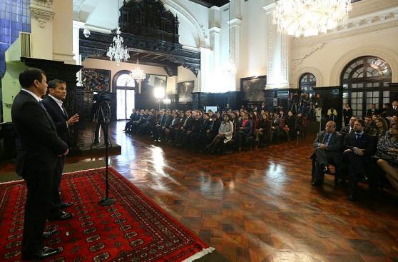 Humala participó en entrega de certificación para ministerios
