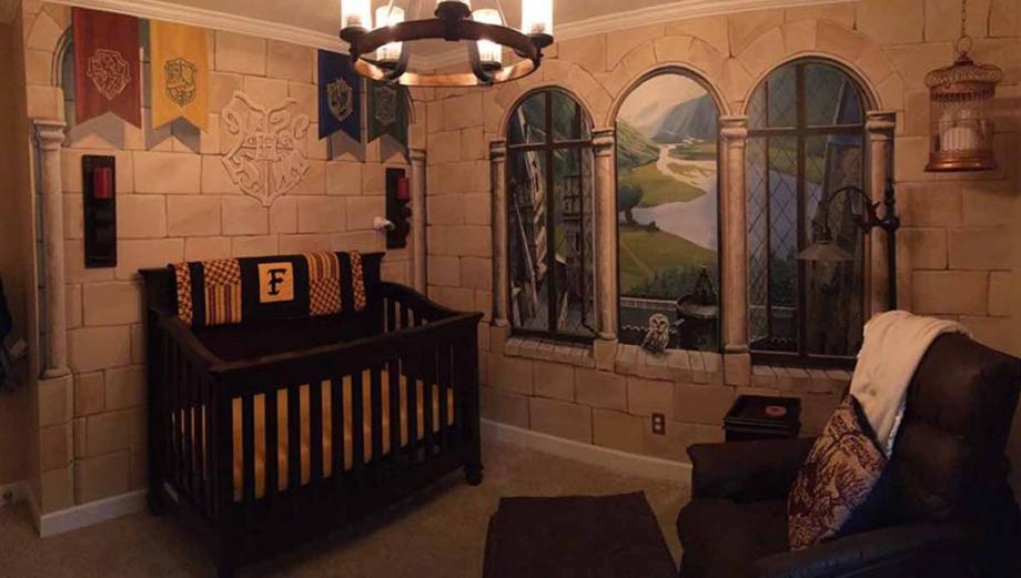 Harry Potter inspira esta mágica habitación de bebe