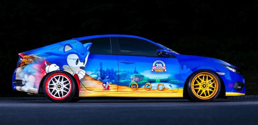 Comic-Con: Honda Civic conmemora los 25 años de Sonic
