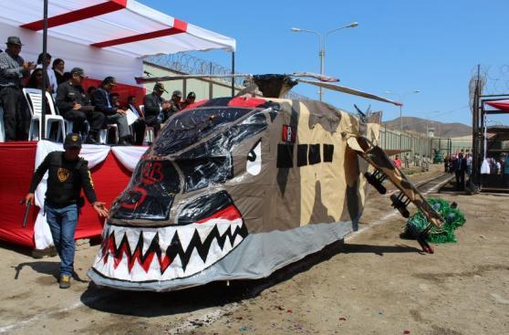 Áncash: reos realizaron 'Parada Militar' en penal de Chimbote