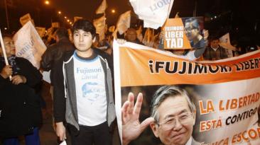 Centro de Lima: marchan para pedir indulto de Alberto Fujimori