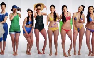 YouTube: 100 años de ropas de baño pintura corporal