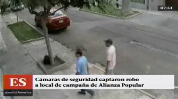 San Isidro: así fue el robo en local de Alianza Popular