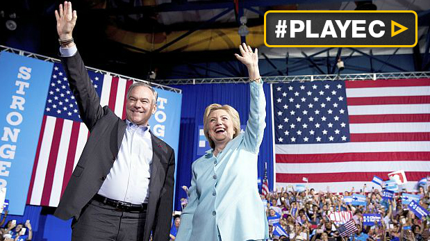 Hillary Clinton presentó a Tim Kaine, su vicepresidente