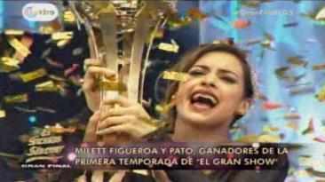 """""""El gran show"""": Milett Figueroa alzó la copa de la gran final"""