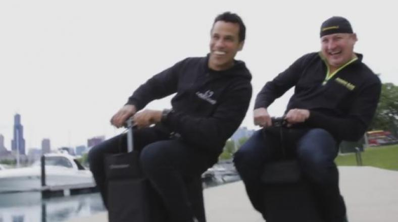 YouTube: crean la primera maleta de viaje motorizada del mundo