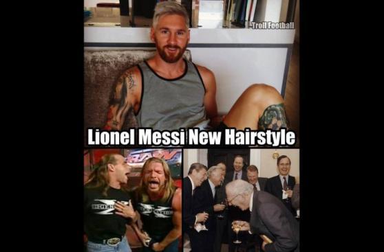 Lionel Messi: usuarios en Facebook se burlan de su nuevo look