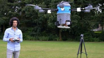 Primera entrega a domicilio hecha con drones llevaba rosquillas