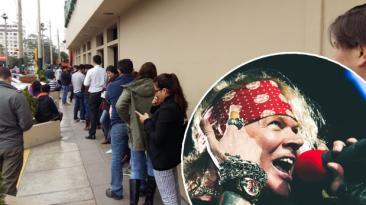 Guns N' Roses en Lima: largas colas para conseguir entradas