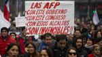 """Chilenos dicen """"No"""" a las AFP por bajas jubilaciones [FOTOS] - Noticias de presidenta sebastian pinera"""