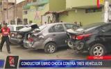 Callao: chofer ebrio causó cuádruple choque fuera de iglesia