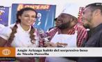 Angie Arizaga habló sobre su beso con Nicola Porcella en TV