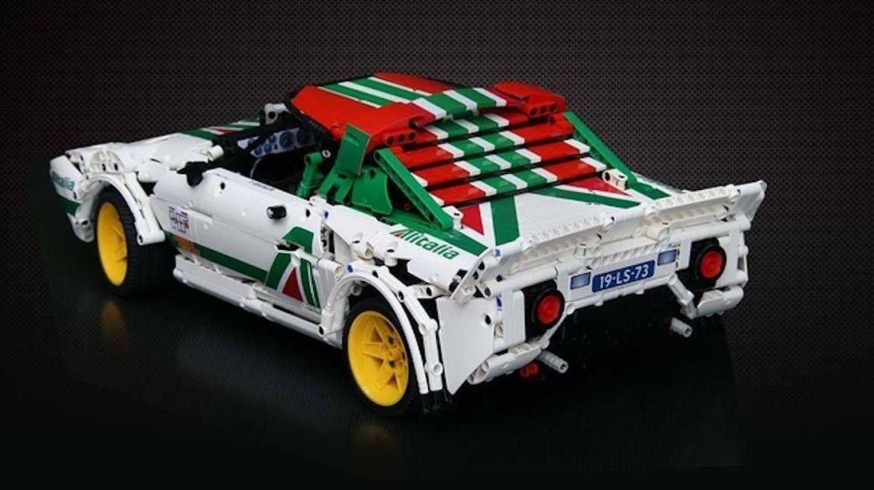 El Lancia Stratos HF ganó el Mundial de Rally en 1974, 1975 y 1976. (Fotos: Lego Ideas)