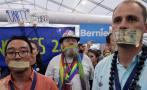 Seguidores de Sanders protestan por la nominación de Clinton