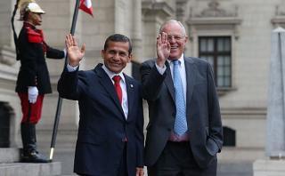 Ollanta Humala y PPK se reunieron en Palacio de Gobierno