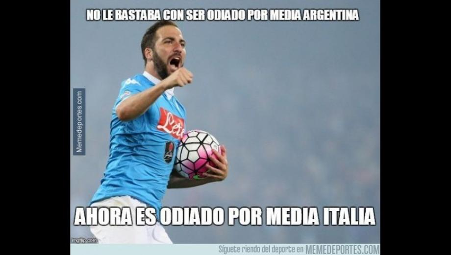 Gonzalo Higuaín protagonista de memes por pase a la Juventus