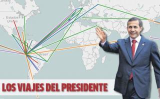 Los países que visitó Humala en sus 5 años [INTERACTIVO]
