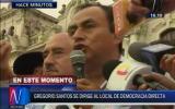 Gregorio Santos realiza mitin no autorizado en Plaza San Martín