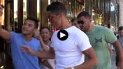 Cristiano Ronaldo empujó a admirador que quería un selfie