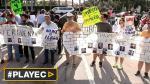 Activistas latinos protestan en EE.UU. contra Donald Trump - Noticias de violador