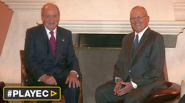 El rey Juan Carlos de España se reunió con Kuczynski [VIDEO]
