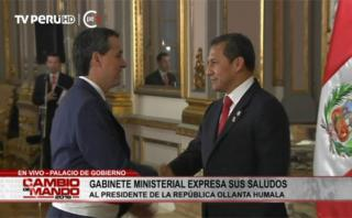 Ollanta Humala se despidió de gabinete antes de cambio de mando