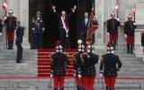 PPK y su efusivo gesto al llegar a Palacio como presidente