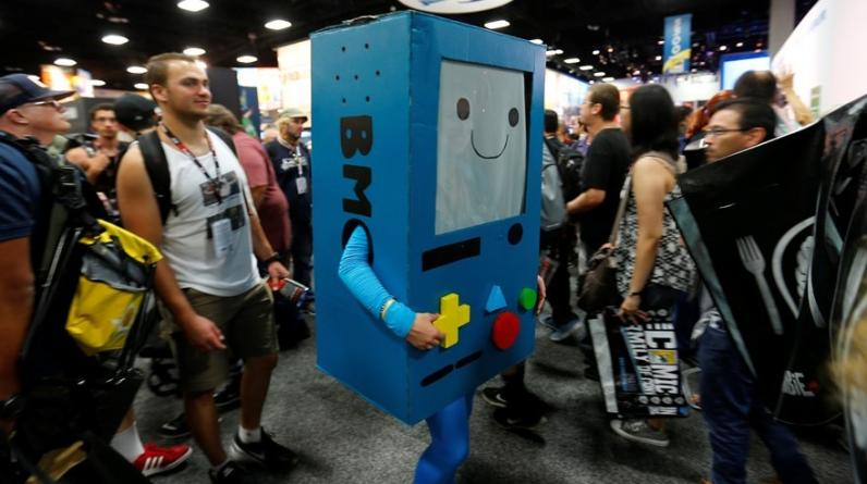 "San Diego Comic Con. BMO de ""Adventure Time"". (Foto: Reuters)"