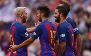 Barcelona derrotó 3-1 al Celtic con Lionel Messi solo 45'