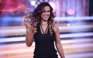 """""""El gran show"""": Angie debutó en el programa al lado de Nicola"""