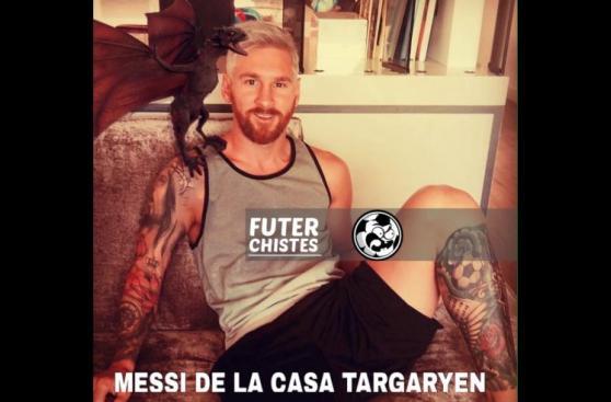 Los imparables memes que ha generado el look de Lionel Messi