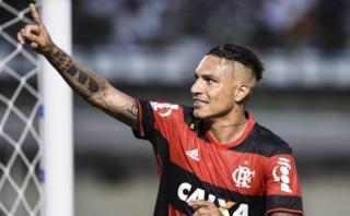 Flamengo ganó 2-0 a Coritiba con un gol de Paolo Guerrero
