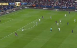 La magia de Lionel Messi: excepcional pase gol ante Leicester