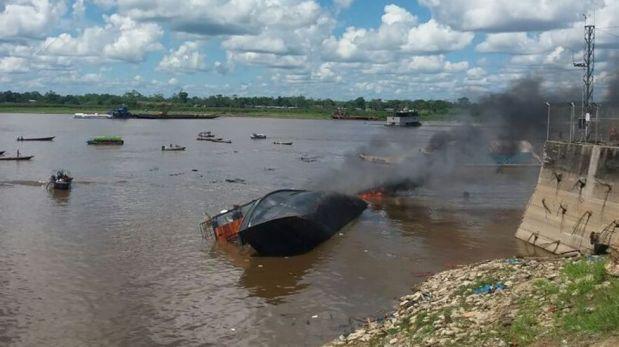La explosión ocurrió en una embarcación en el río Itaya, en Iquitos, Loreto. (Daniel Carbajal / El Comercio)