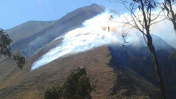 Incendio afecta más de 10 hectáreas en distrito de Machu Picchu