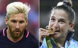 Lionel Messi felicitó a judoca Pareto por medalla de oro