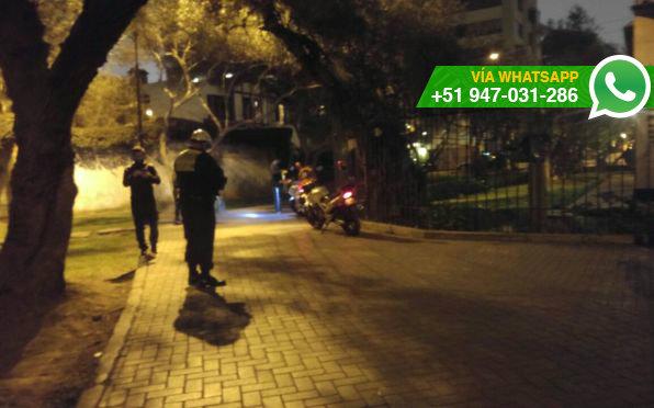 La noche del viernes, policías habrían retirado a jugadores de Pokémon Go de El Olivar (Foto: WhatsApp El Comercio)