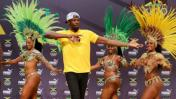 Río 2016: Usain Bolt bailó samba en conferencia de prensa
