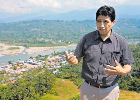 Iván Cisneros, alcalde de Río Tambo, pide mayor presencia del Estado en esta golpeada zona. (Lino Chipana / El Comercio)