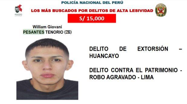 William Pesantes Tenorio fue intervenido durante un operativo de inteligencia realizado por  el Grupo Terna en el cruce de jirón Azángaro con Pachitea, en el Cercado de Lima. (Difusión)