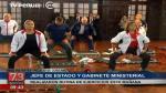 PPK y sus ministros hicieron ejercicios dentro de Palacio - Noticias de consejo nacional de seguridad ciudadana